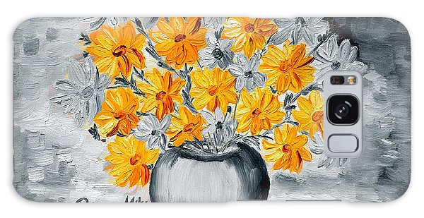 A Whole Bunch Of Daisies Selective Color I Galaxy Case by Ramona Matei