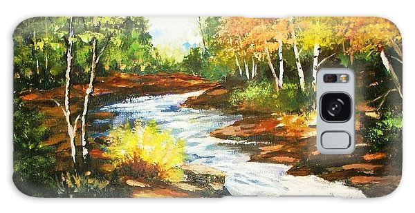 A Winding Creek In Autumn Galaxy Case