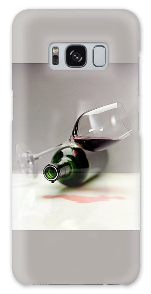 A Wine Bottle And A Glass Of Wine Galaxy Case