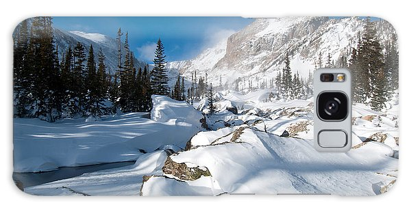 A Winter Morning In The Mountains Galaxy Case