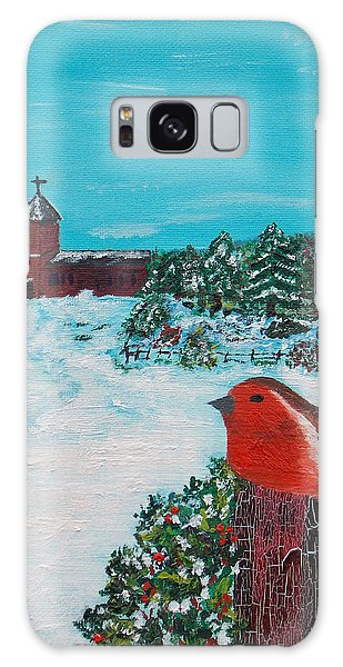 A Winter Scene Galaxy Case