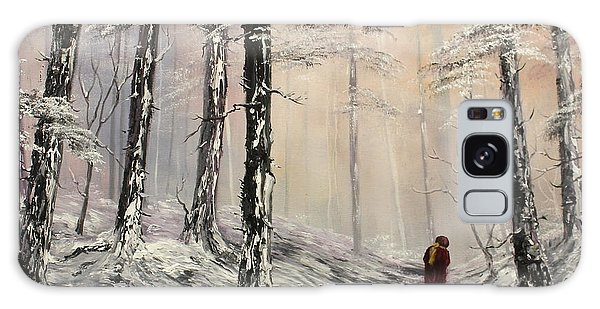 A Winter Walk Galaxy Case by Jean Walker