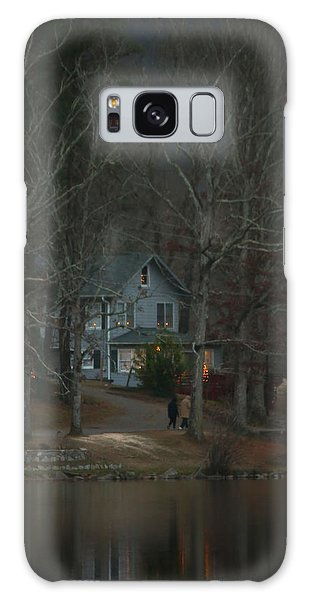 A Winter Walk Galaxy Case