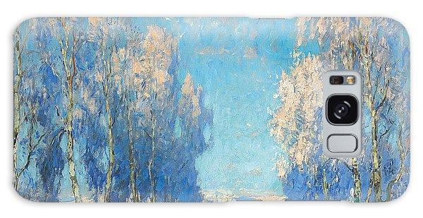 Russian Impressionism Galaxy Case - A Winter's Day by Konstantin Ivanovich Gorbatov