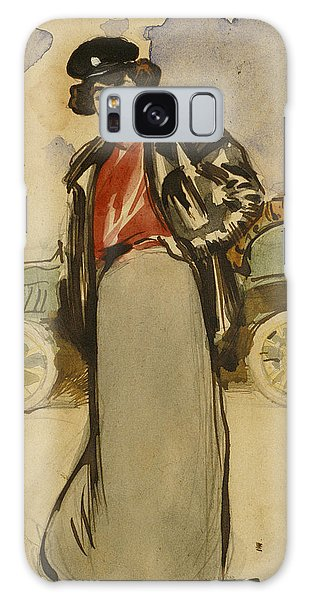 Impressionistic Galaxy Case - A Woman Driver by Ramon Casas
