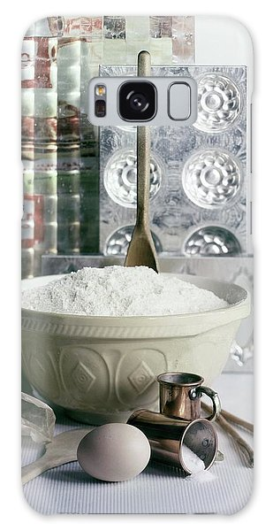 A Wooden Spoon In A Bowl Of Flour Galaxy Case