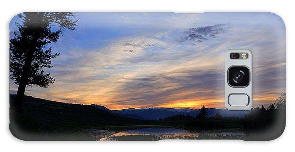 A Yellowstone Lake Before Sunrise Galaxy Case
