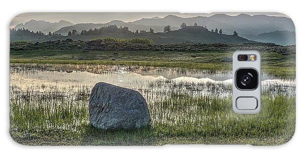 A Yellowstone Sunrise And Hazy Morning Ridges Galaxy Case