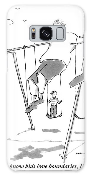 A Young Boy On A Swingset To His Father Galaxy Case