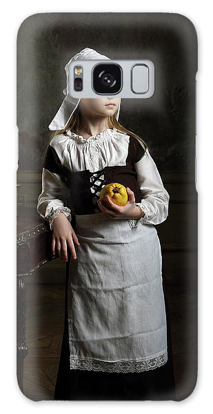 Countryside Galaxy Case - A Young Girl With Some Quinces by Victoria Ivanova