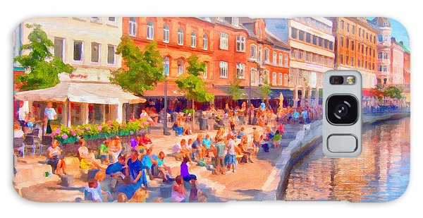 Aarhus Canal Digital Painting Galaxy Case