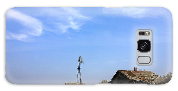 Abandoned Alberta Prairie Home Galaxy Case by Jim Sauchyn