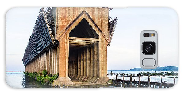 Abandoned Ore Dock Marquette Michigan Galaxy Case