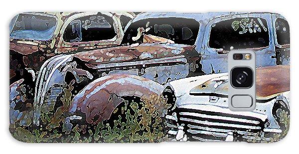 Abandoned Row Galaxy Case by Richard Farrington