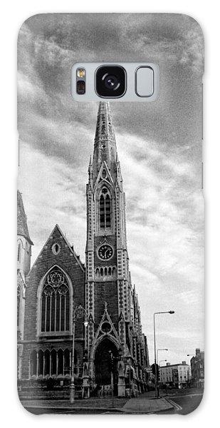 Abbey Presbyterian Church In Black And White Galaxy Case