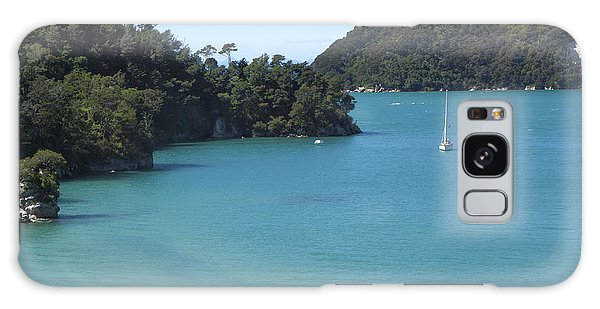 Abel Tasman Bay With Sail Boat Galaxy Case by Loriannah Hespe