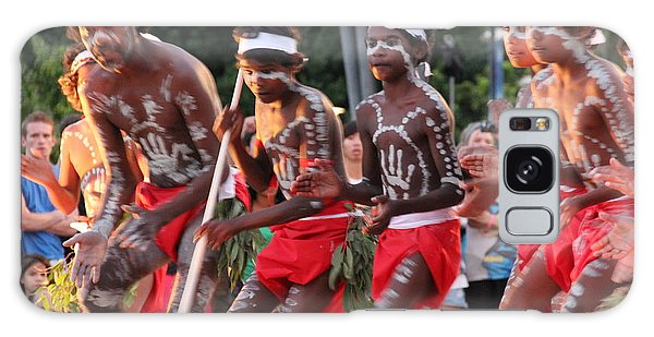 Galaxy Case featuring the photograph Aboriginal Dancers by Debbie Cundy