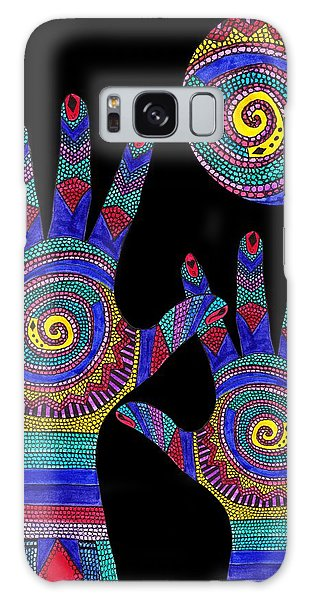 Aboriginal Hands To The Sun Galaxy Case