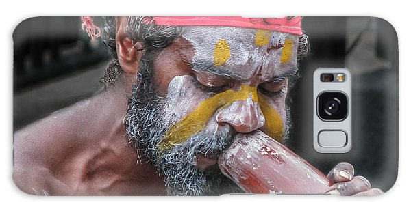 Aboriginal Playing Didgeridoo Galaxy Case