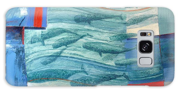 Hundred Galaxy Case - About 120 Western Grey Whales Wc On Paper by Charlie Baird