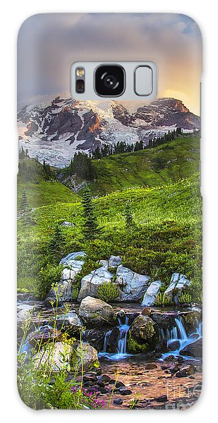 Above Myrtle Falls 3 Galaxy Case by Sonya Lang