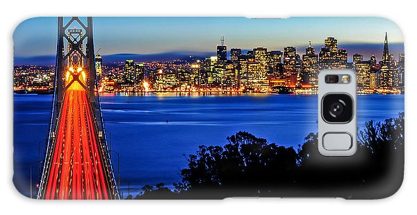 Above The Bay Bridge And San Francisco Skyline Galaxy Case
