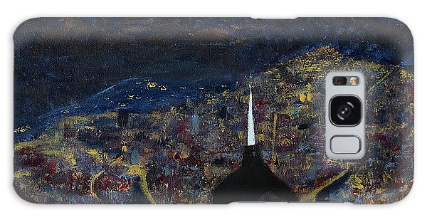 Above The City At Night Galaxy Case