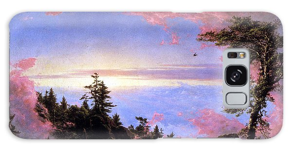 Above The Clouds At Sunrise By Frederick Edwin Church Galaxy Case
