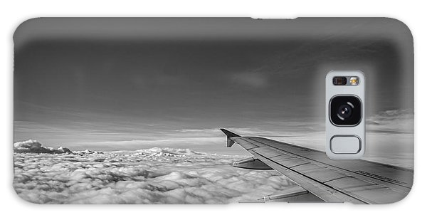 Above The Clouds Bw Galaxy Case