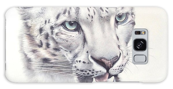 Galaxy Case - Above The Clouds - Snow Leopard by Jill Parry