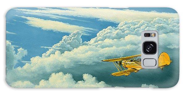 Cloudscape Galaxy Case - Above The Clouds-waco Biplane by Paul Krapf
