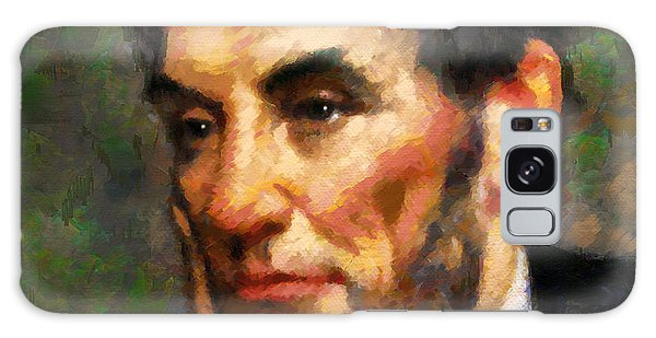 Abraham Lincoln - Abstract Realism Galaxy Case