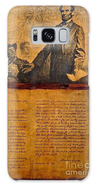Abraham Lincoln The Gettysburg Address Galaxy Case