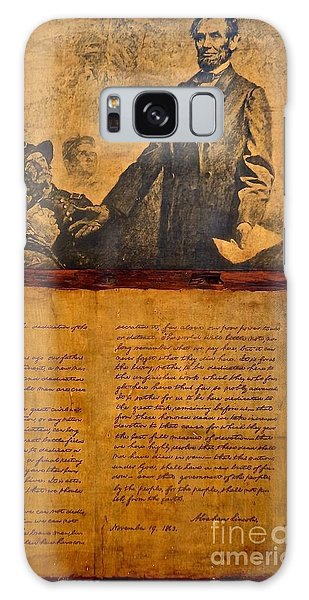 Abraham Lincoln The Gettysburg Address Galaxy Case
