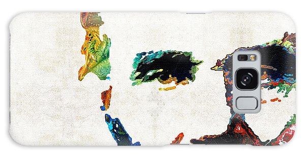 Abraham Lincoln Art - Colorful Abe - By Sharon Cummings Galaxy Case by Sharon Cummings