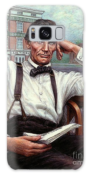Abraham Lincoln Of Springfield Bicentennial Portrait Galaxy Case by Jane Bucci
