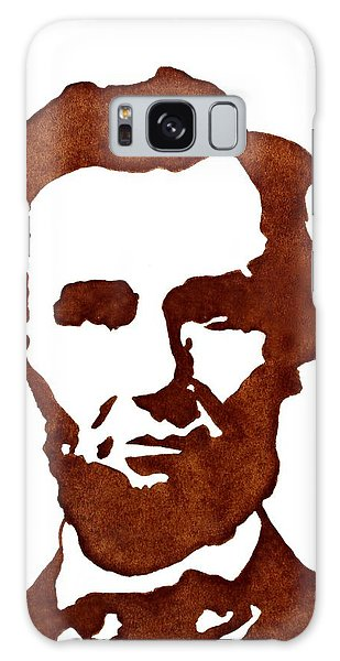 Abraham Lincoln Original Coffee Painting Galaxy Case