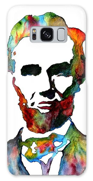 Abraham Lincoln Original Watercolor  Galaxy Case