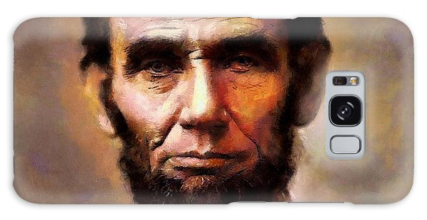 Abraham Lincoln Galaxy Case by Wayne Pascall