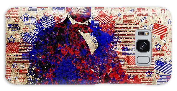 Abraham Lincoln With Flags Galaxy Case