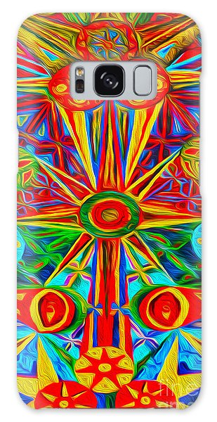 Abstract 02 Galaxy Case by Gregory Dyer