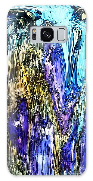 Galaxy Case featuring the painting Abstract 2024 by Gerlinde Keating - Galleria GK Keating Associates Inc