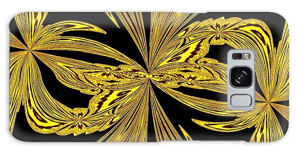 Abstract Botanical Gold Galaxy Case