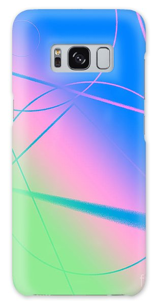 Abstract Circles And Lines Galaxy Case