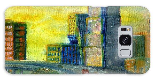 Abstract City Downtown Shreveport Louisiana Galaxy Case by Lenora  De Lude