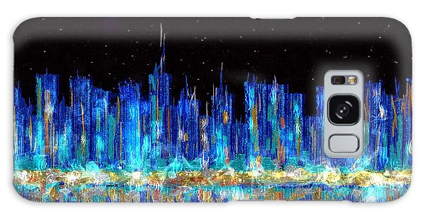Abstract City Skyline Galaxy Case