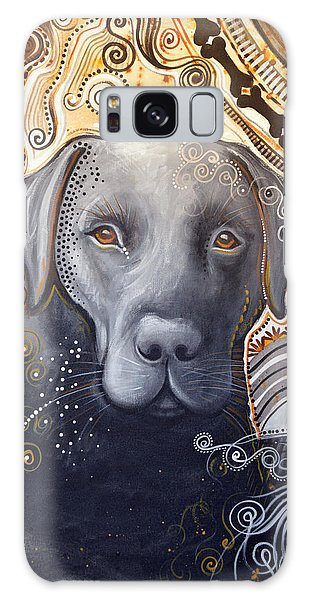 Abstract Dog Art Print ... Rudy Galaxy Case by Amy Giacomelli
