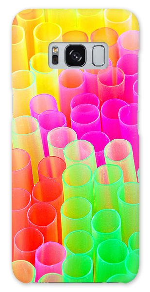 Abstract Drinking Straws #2 Galaxy Case by Meirion Matthias