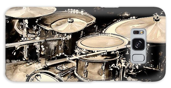 Drum Galaxy S8 Case - Abstract Drum Set by J Vincent Scarpace