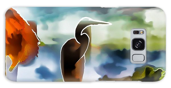 Abstract Egret Profile Galaxy Case by Pamela Blizzard